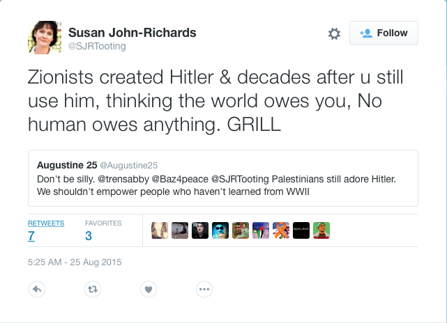 "Former Councillor claims ""Zionists created Hitler and decades after you still use him"""