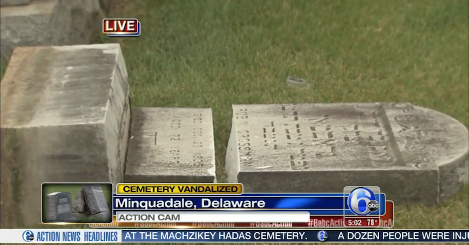 Jewish cemetery vandalised in Delaware