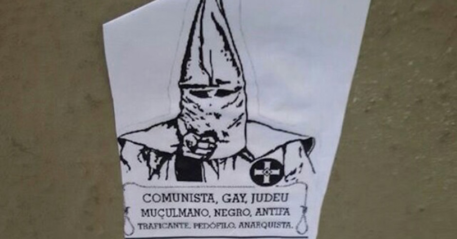 KKK-inspired posters in Brazil warn that Jews and others will be hunted down