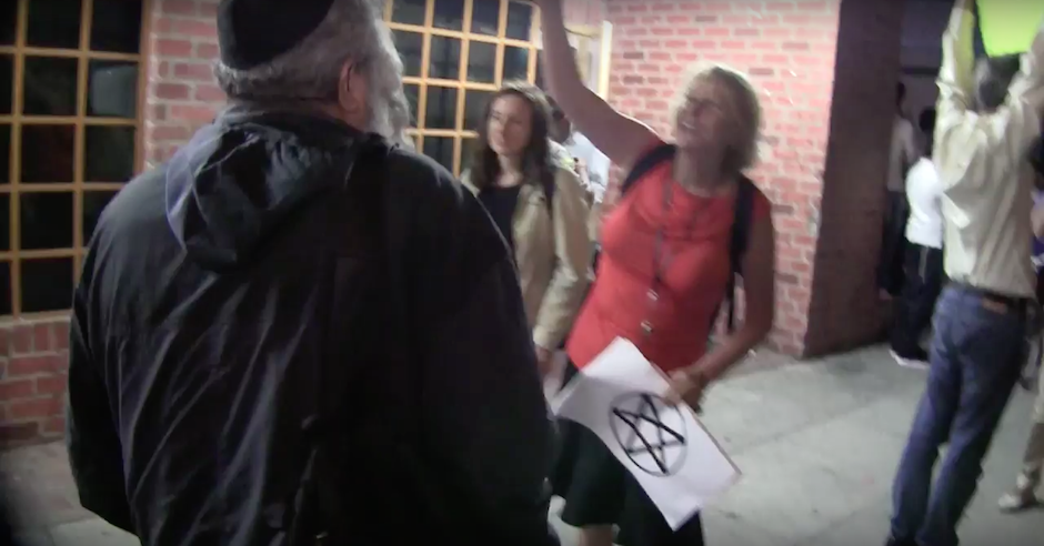 "Video shows antisemitic protesters shouting ""Fagin"" and ""money"" at Jews"