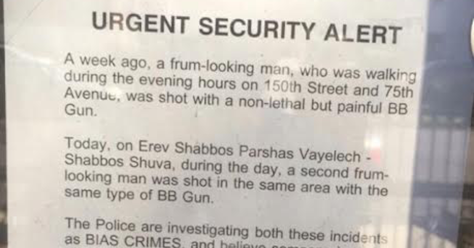 Two men shot with ball bearing guns in latest attack against New York Jews