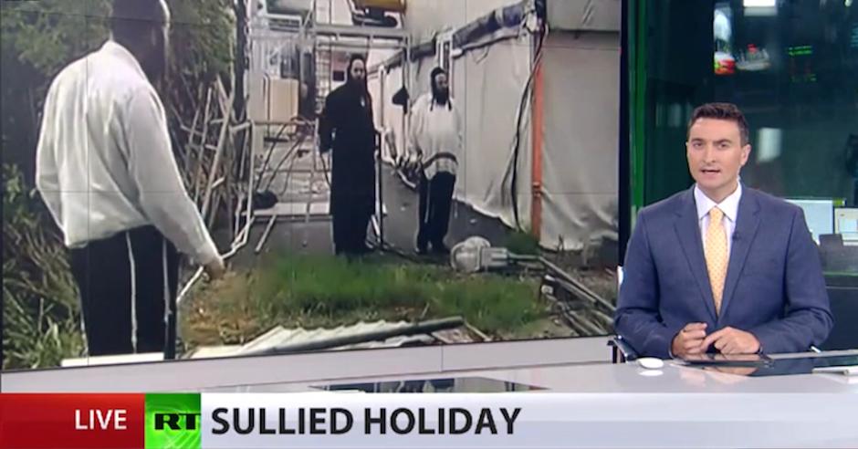 Far-right Ukrainian thugs vandalise encampment for Jewish pilgrims, police take no action