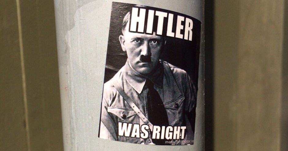 "Antisemitic ""Hitler was right"" posters at Birmingham university under investigation by police forensics team"