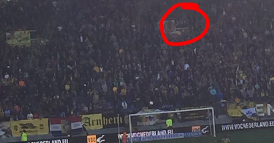 Antisemitic sign and chanting at Netherlands football match