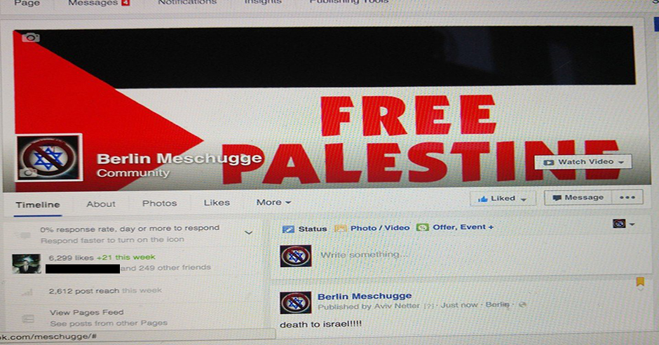 Berlin Jewish LGBT community's Facebook page hacked with anti-Israel messages