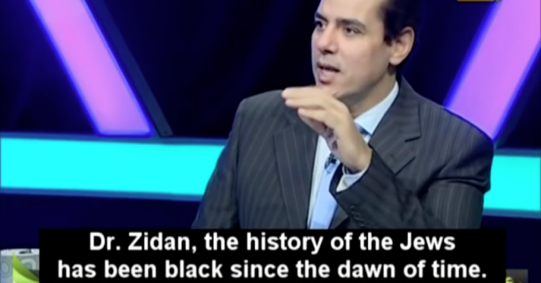 "Egyptian TV guest and host agree that burning Jews is the ""only solution"""