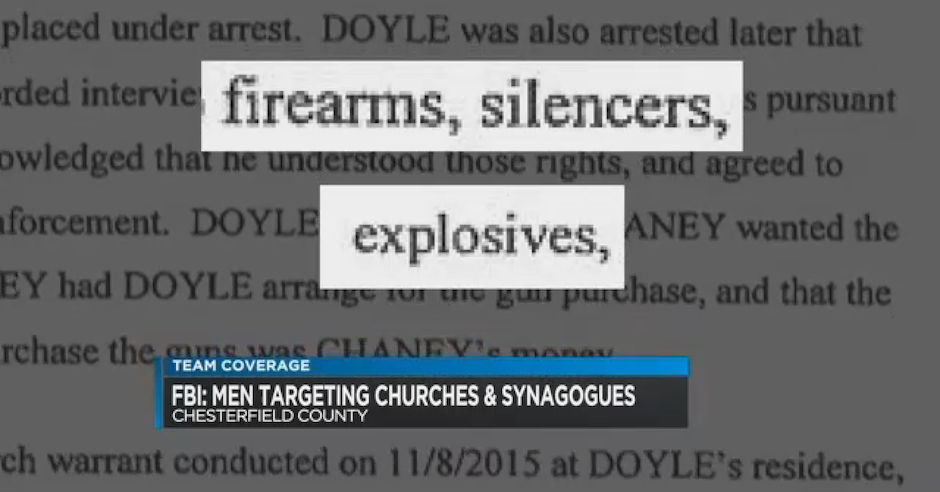 FBI arrests white supremacists planning to bomb synagogues and black churches