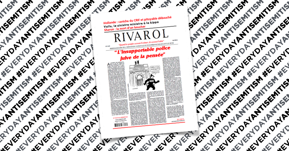 "French editor fined for article attacking ""Jewish thought police"" and ""Jewish tyranny"""