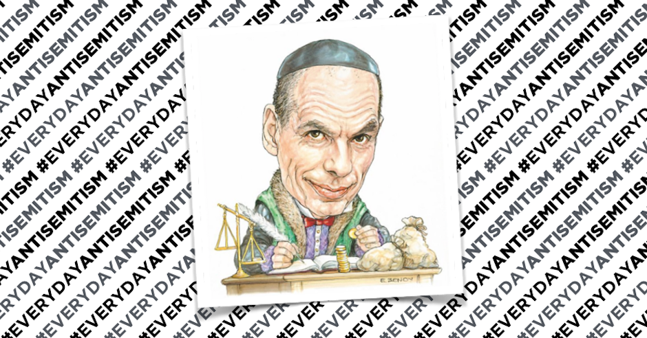 Greek paper publishes antisemitic caricature of former Finance Minister