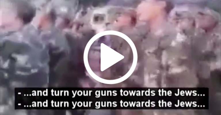 "Algerian military marching song: ""Turn your guns towards the Jews in order to kill them"""