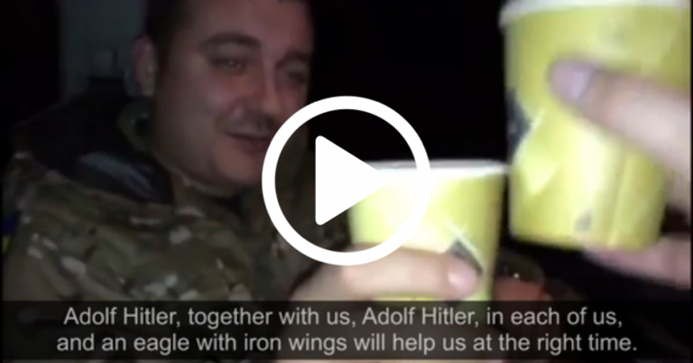 "Ukranian MP toasts Hitler, singing ""Adolf Hitler, together with us, Adolf Hitler, in each of us"""