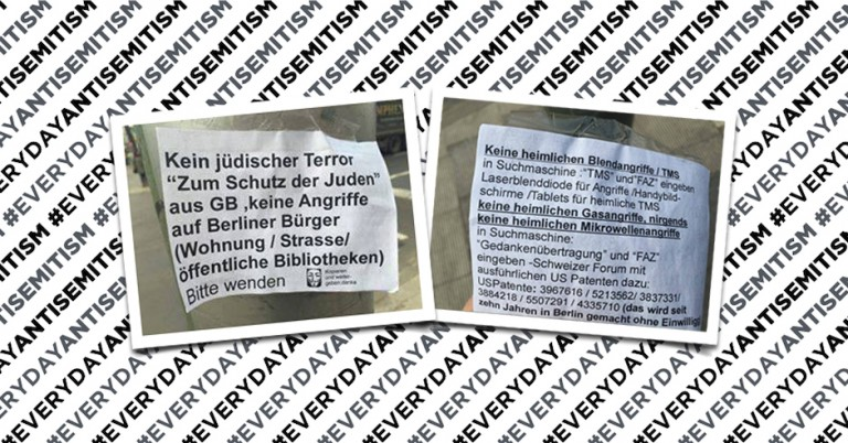 "Spate of antisemitic propaganda appears in Berlin, warning against ""Jewish terror"" from Great Britain"