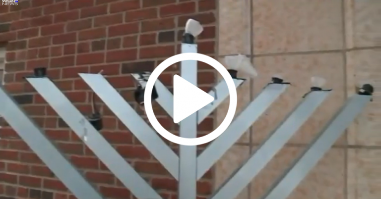 Outdoor menorah smashed at hospital in Evanston, Illinois