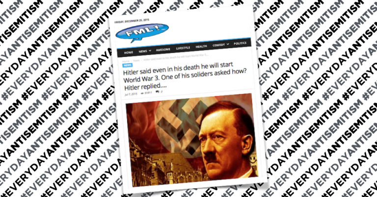 Viral media website using antisemitic conspiracy theory to generate clicks