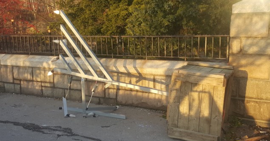New York outdoor menorah found smashed on the ground in act of antisemitic vandalism