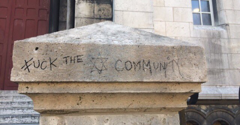 "Paris' famous Sacré-Coeur Basilica defaced with ""F*** the Jewish community"" graffiti"