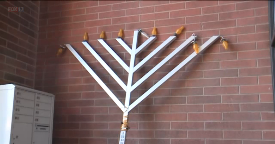 Outdoor menorah stolen, vandalised and dumped on the night before Chanukah in Utah