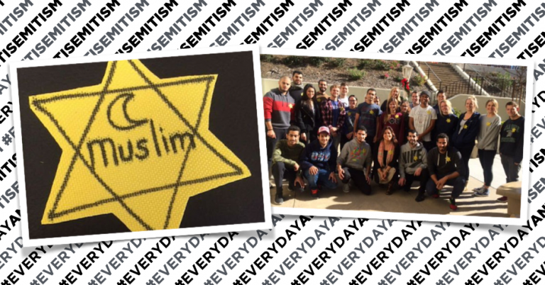 "San Diego professor encourages students to wear yellow star labelled ""Muslim"""
