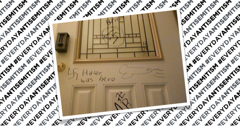 "New York Jewish families' front door defaced with ""Hitler was hero"" graffiti and swastikas"