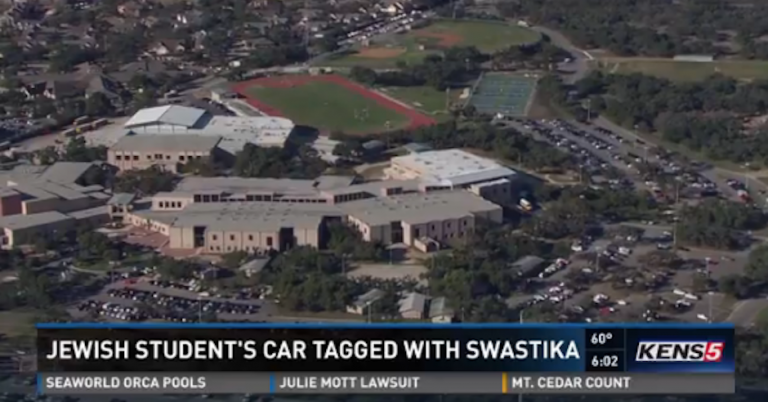 Jewish school pupil in Texas finds swastika note under windscreen wiper