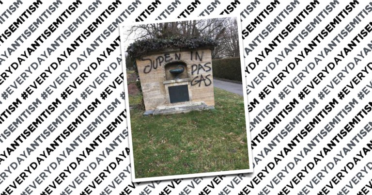 Large-scale, antisemitic graffiti attack on cemetery in Germany still on display, three weeks later