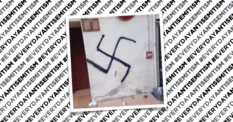 Swastika found on the wall of the Marconi institute in Sanremo, Italy
