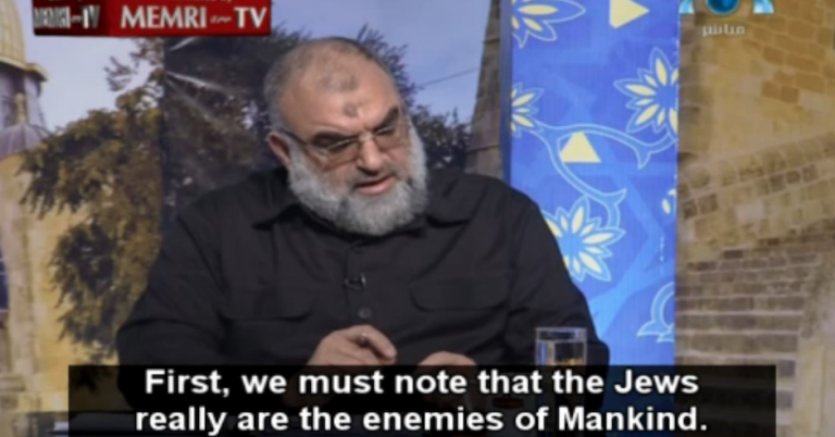 "Saudi television tells viewers about the ""criminal and Satanic nature"" of the Jews"