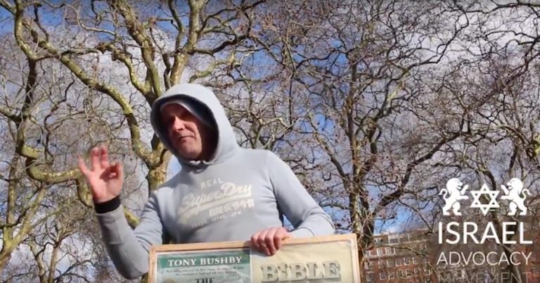 "Speaker at London's Speakers' Corner denounces passing ""Dirty Jews"""
