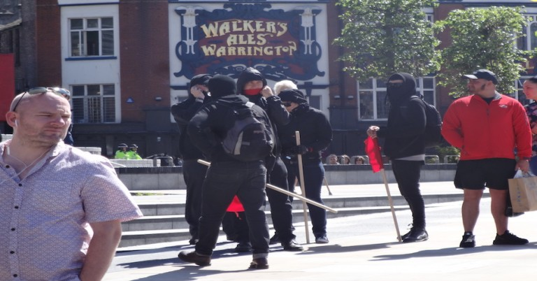 North West Infidels clash with anti-fascism group in Liverpool