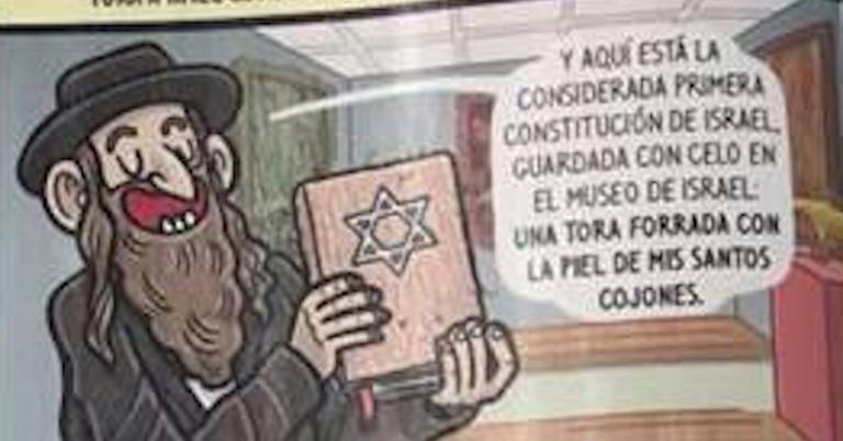 Spanish magazine publishes cartoon showing Jews abusing Jesus