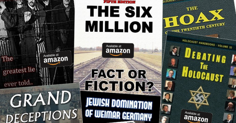 Searching Amazon for books about the Holocaust brings up Holocaust denial texts