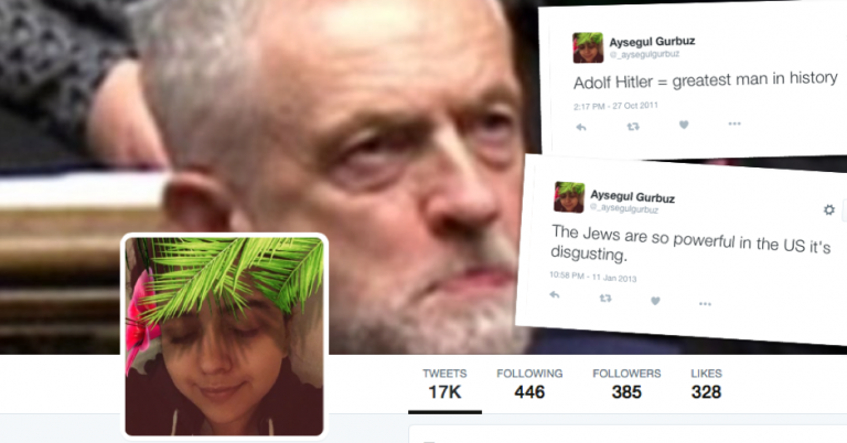 "Labour Councillor's Twitter account praises ""my man Hitler"" for Holocaust"