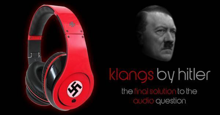 "Nazi headphones advertised as ""Final solution to the audio problem"""