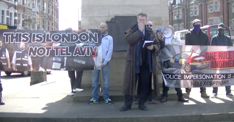 Neo-Nazis demonstrate against Jews at war memorial in Golders Green