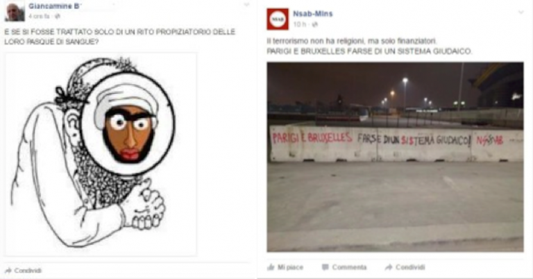 Rampant Facebook antisemitism after Brussels attacks