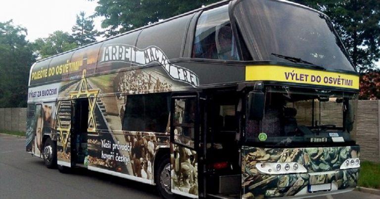 """Families angered over """"fun tourist destination"""" Auschwitz bus"""