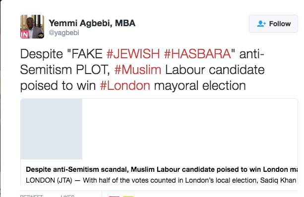 "Labour supporter: Antisemitism scandal is ""Fake, Jewish, Hasbara Plot"""