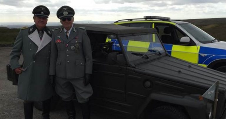 "Greater Manchester Police apologises for tweeting pictures of ""likely lads"" in full Nazi uniform"