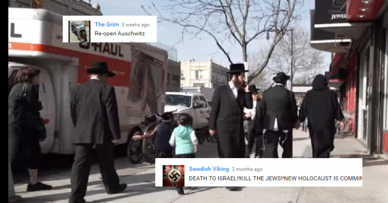 "Comments on Muslim/Jewish social experiment: ""re-open Auschwitz"", ""We need another Holocaust"""