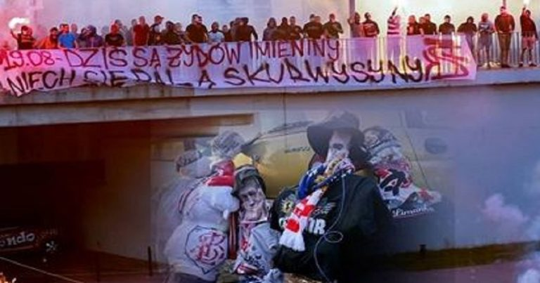 "Polish football fans burn ""Jewish"" effigy, call for burning Jews"