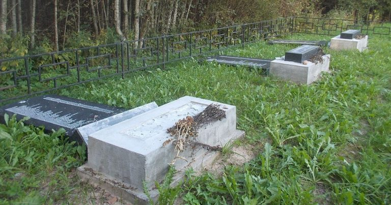 Vandals wreck Holocaust memorial sites in North-West Russia and Estonia