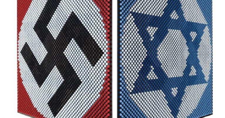 "German ""artwork"" juxtaposes Star of David with Swastika"