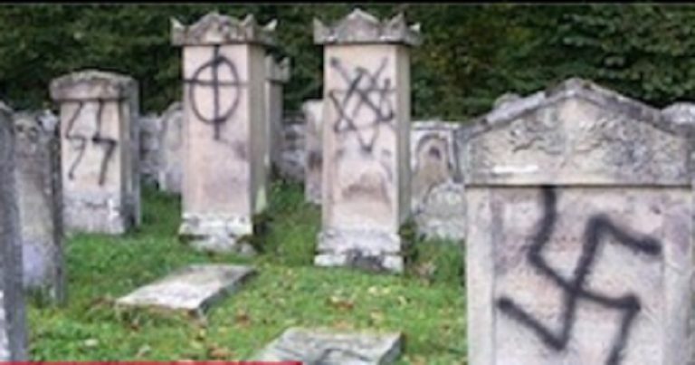 Cemetery in Vienna vandalized with Swastika