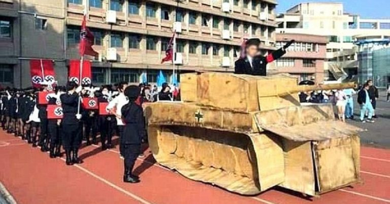 Nazi parade in Taiwanese school