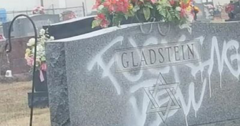 "Arrests made after headstone defaced with ""f***ing Jew"" graffiti"