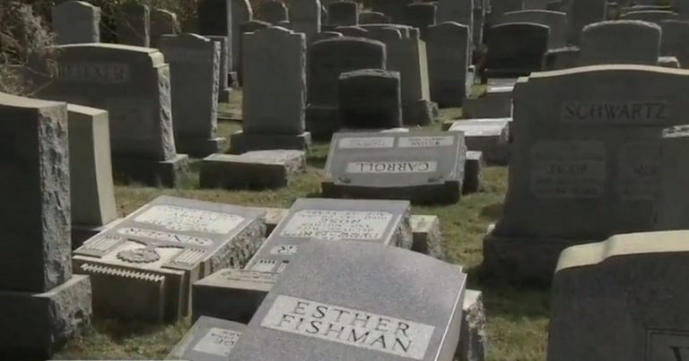 Dozens of graves vandalized at Jewish cemetery in Philadelphia