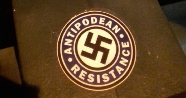Neo-Nazi group litters Jewish neighbourhood in Melbourne with Swastika stickers