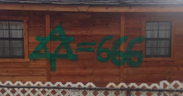 Graffiti equating Judaism with Satanism in Calgary, Canada