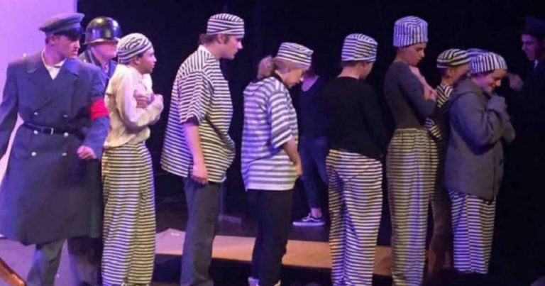 "Jewish school's Holocaust play interrupted by shouts of ""Heil Hitler"" from audience"