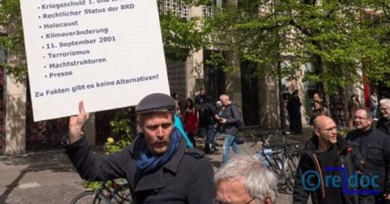 Berlin's March For Science sees Holocaust deniers and antisemitic conspiracy theorists march unchallenged